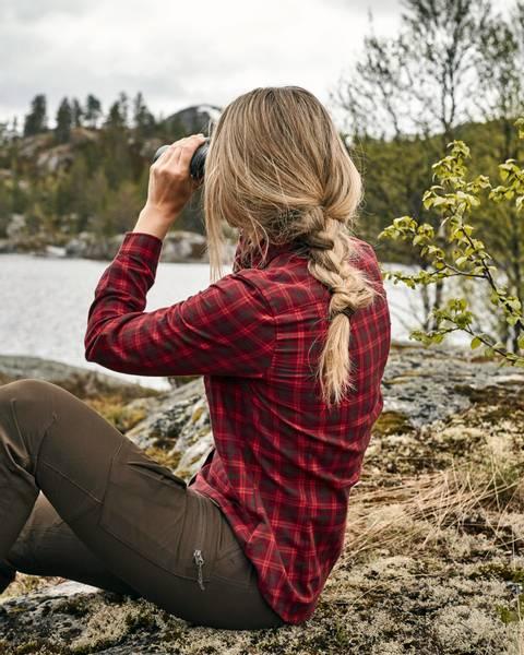 Bilde av Rødrutete Turskjorte - Dame